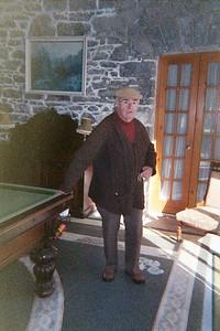 George in his billiard room
