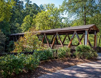 Vickery Creek wooden covered bridge.