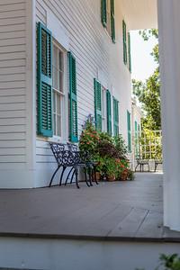 Barrington Hall, side porch.
