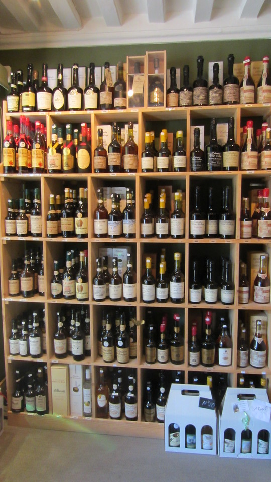 Racks of Calvados in Honfleur