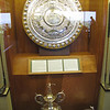 The silver shield presented by Andrew Carnegie to the Royal Dornoch Golf Club in 1901 for its annual competition.