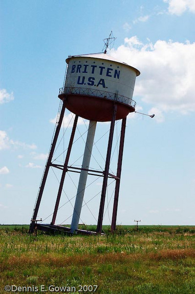 Leaning Water Tower Britten, NM