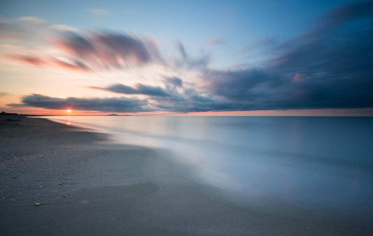Sonnenaufgang am Strand von Sérignan