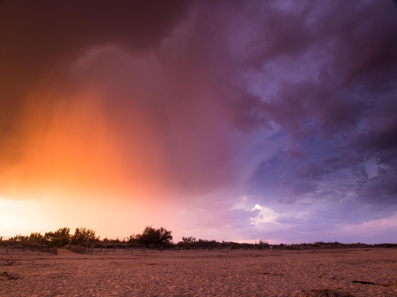 Gewitter bei Sonnenuntergang