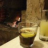 Drinks by the fire at The Caledonian Hotel in Robe, South Australia.