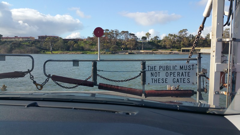 From our car during the ferry crossing near Wellington, South Australia