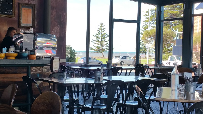 The Anchorage Hotel Cafe near the beach in Victor Harbour, South Australia.