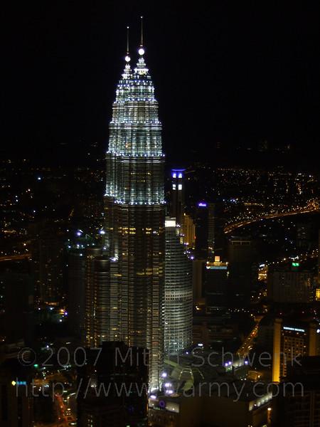 View of Petronas Towers from Menara tower.