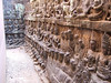 A labrynth of sculpted walls.  Terrace of the Leper King at Ankor Thom