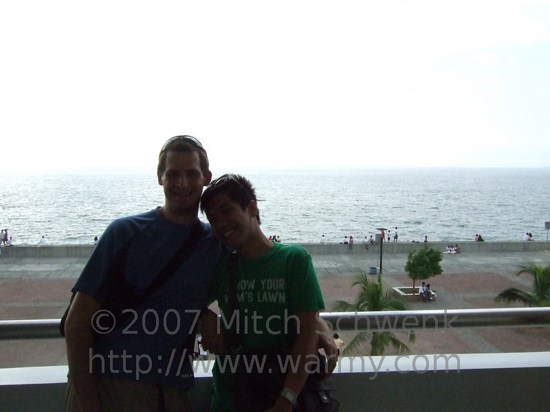 Mitch and Tomas - overlooking the water.