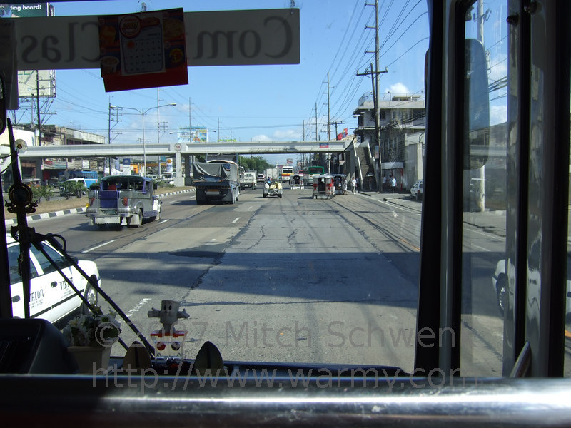 The bus ride into Manila from Clark airport.