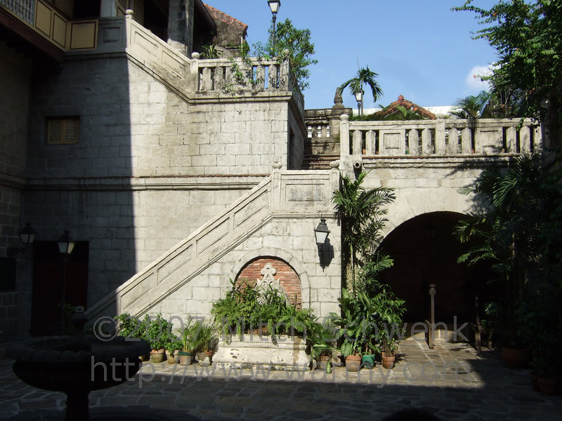 Intramuros - Inside Manila, it's a walled city that was for the exclusive use by the Spanish rulling classes.