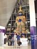 Robert and Albert at the BKK airport - Standing in front of what I believe is a devil - as I learned while traveling through Cambodia.