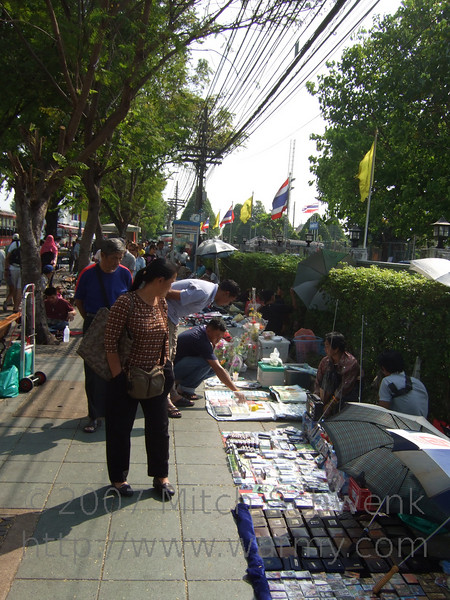 Sidewalk sale just outside of the Grand Palace