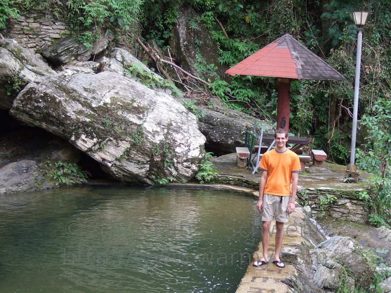 Mitch at the lower of the two pools at Tamaraw Falls swimming area.