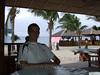 Mitch at a restaurant  on White Beach, Puerto Galera, Philippines.