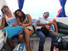 On the return trip from Puerto Galera to Batangas Port, Philippines, nearly everyone was pased out tired.