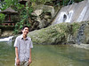 Tomas trying to keep his pants dry at the lower of the two pools at Tamaraw Falls swimming area.