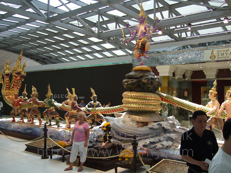 Walking around the BKK airport - very fancy and upscale shopping and eating.  Wonderful decorations as well.