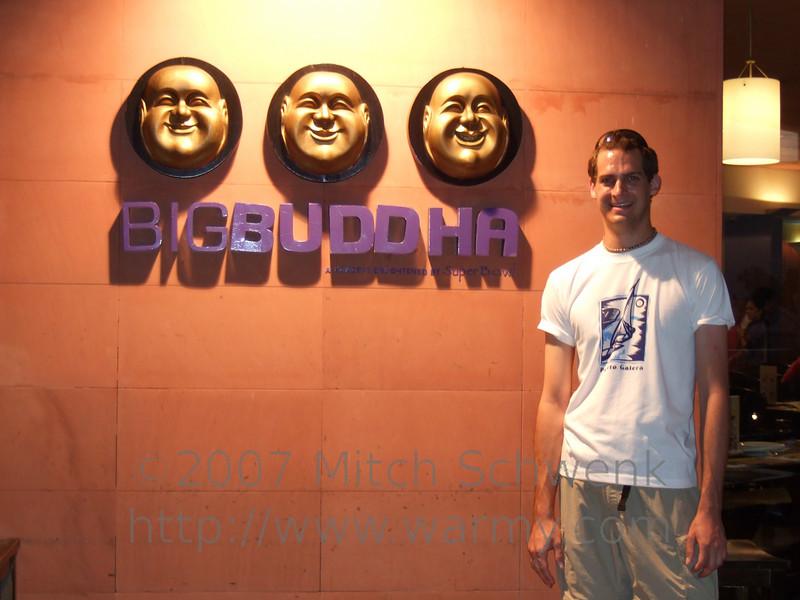 Ate at Big Buddha as my last meal in Manila.  Hi Robert.