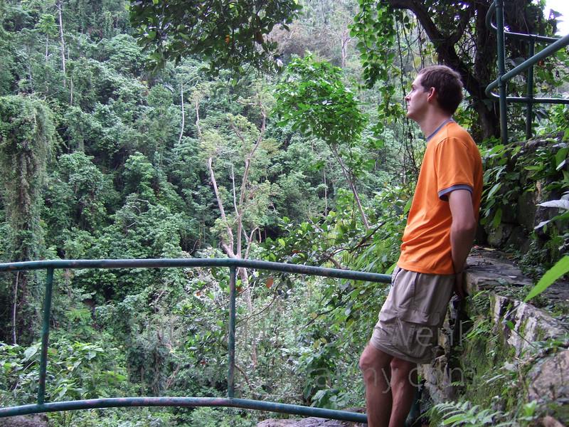 Mitch at Tamaraw Falls.