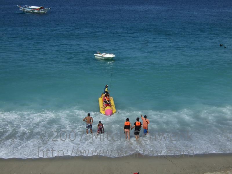 White beach at Puerto Galera.