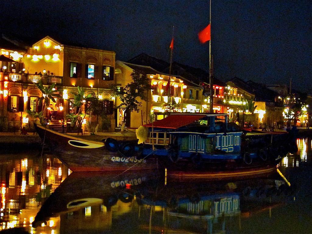Hoai River in Hoi An Vietnam