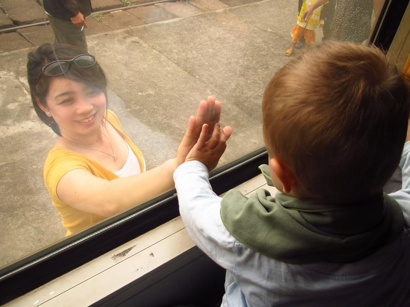 Saying goodbye to Phuong, Qui Nhon Vietnam.