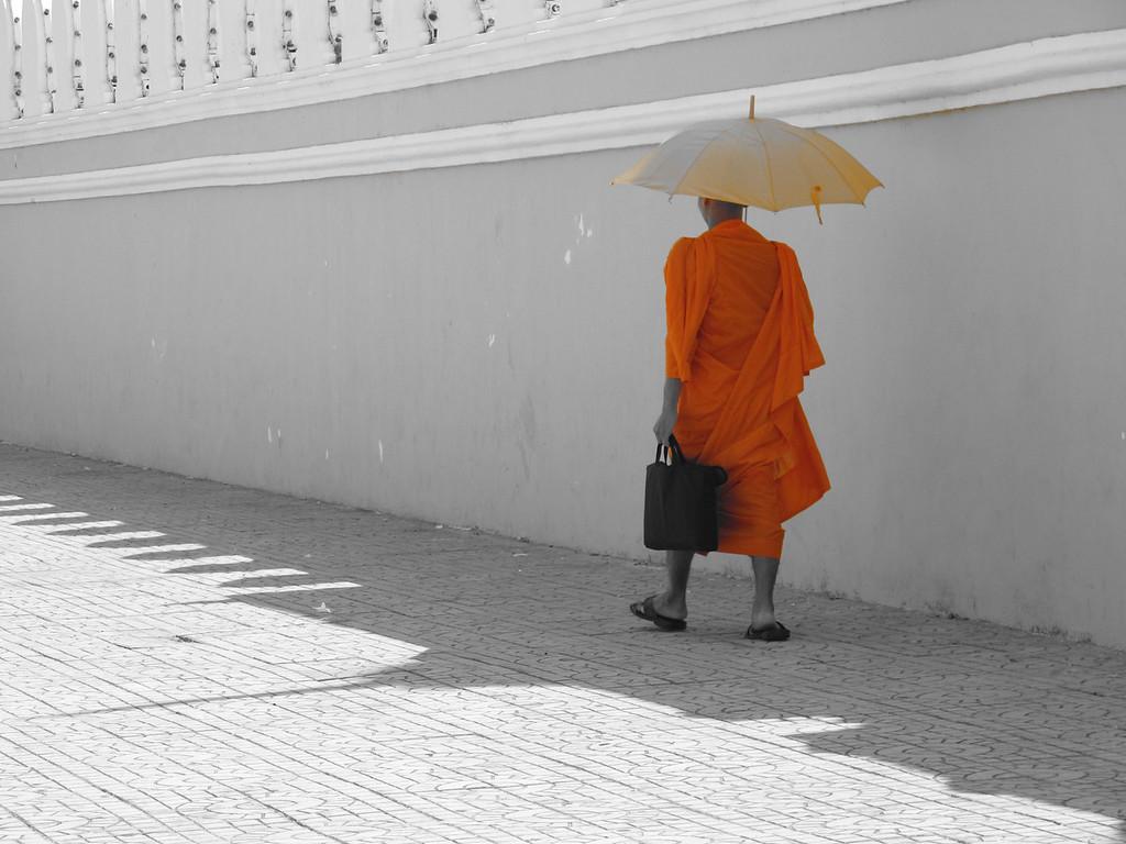 Monk, Pnom Penh, Cambodia