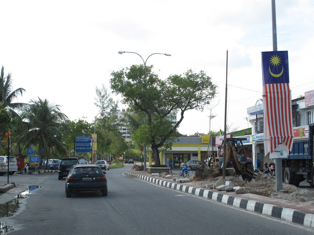 A drive through the town of Kuah, Langkawi.