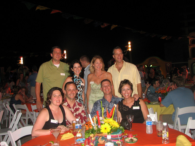 Group Banquet dinner the first night we were in Cancun.  Fun times!