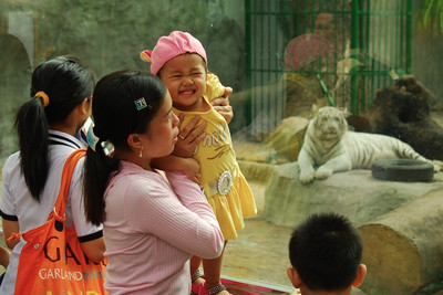 Locals enjoy the zoo in Ho Chi Minh City