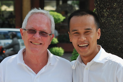 Bill and our tour guide in Ho Chi Minh City