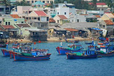 Boats in Saigon River