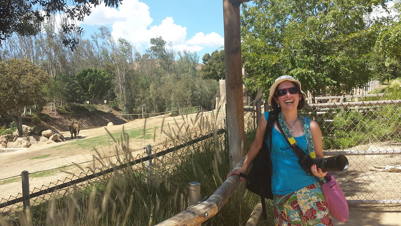 Anita's pic of me by the elephants