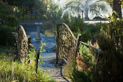 beautiful gates at the Univ. of Calif. Bot Gardens