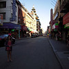 Emi in the middle of the street in China town