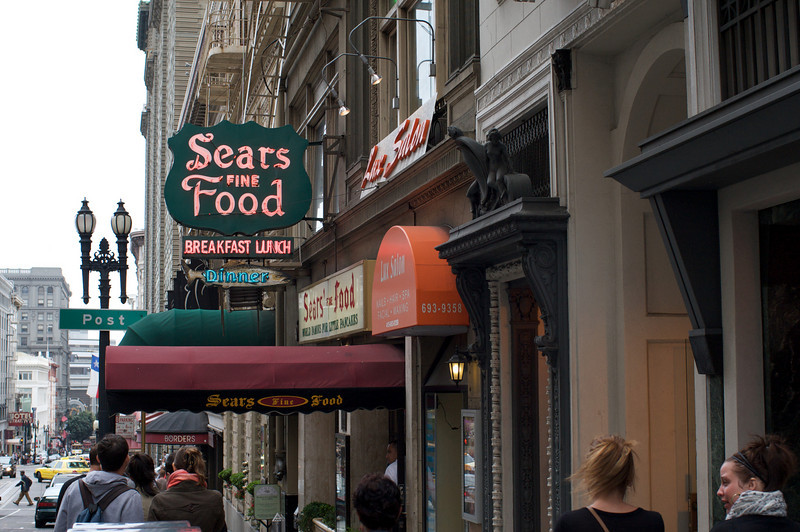 <center>Breakfast at the popular Sears restaurant</center>