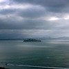 Alcatraz on a hazy morning in San Francisco.