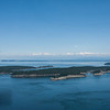 Looking east toward Sucia Island with the Cascades in the distance