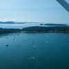 Looking northwest over Echo Bay on Sucia Island