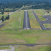 Approaching runway 16 at Friday Harbor Airport on San Juan Island
