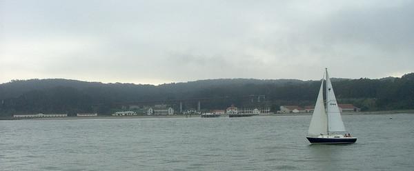 SanFrancisco Bay  - Golden Gate Bridge - Alcatraz Island