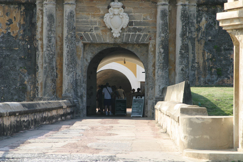 "Entrance to ""El Morro"" fort in San Juan"
