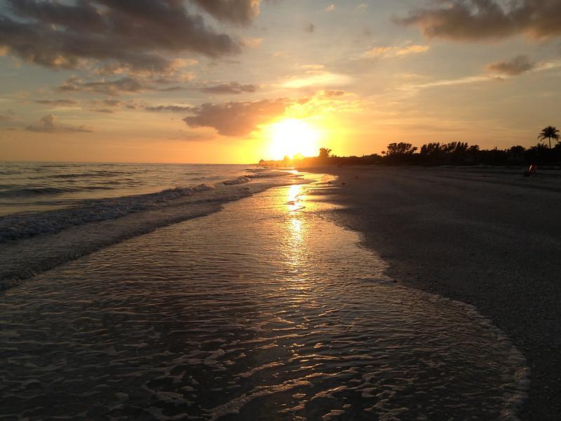 Sunset on Sanibel Moorings Beach