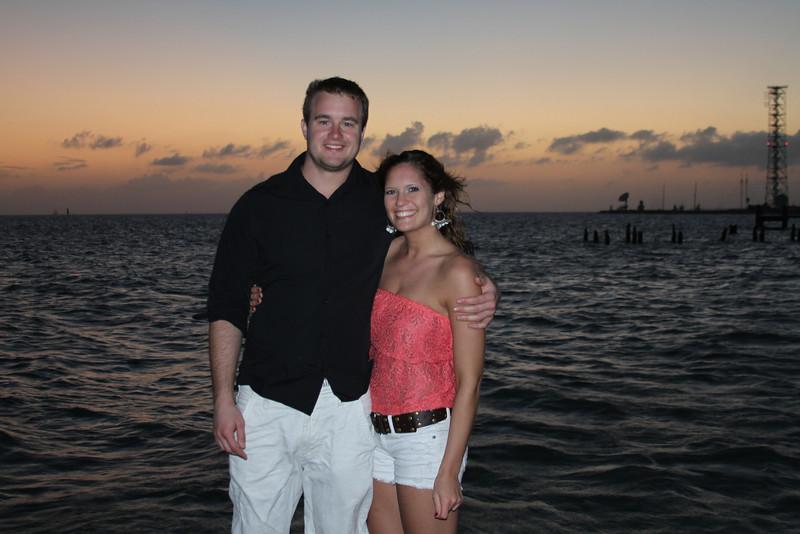 Sunset, Key West pier