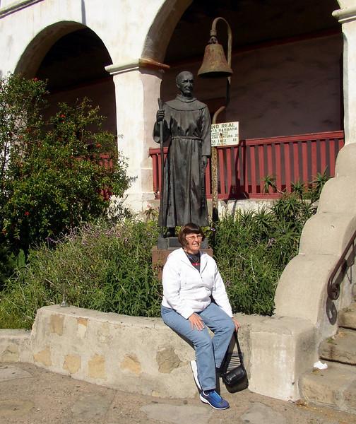 Carol at Santa Barbara Mission
