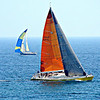 Sail boat race in Santa Barbara Harbor July 2008