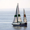 Sailboat just off the coast of Santa Barbara, CA  July 2008