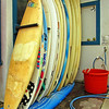 Surfboards, seen near the Beach at Padero, Carpinteria, CA